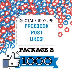 Facebook Post Likes Package 2 Buy in Pakistan