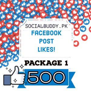 Facebook post likes package 1 buy in pakistan