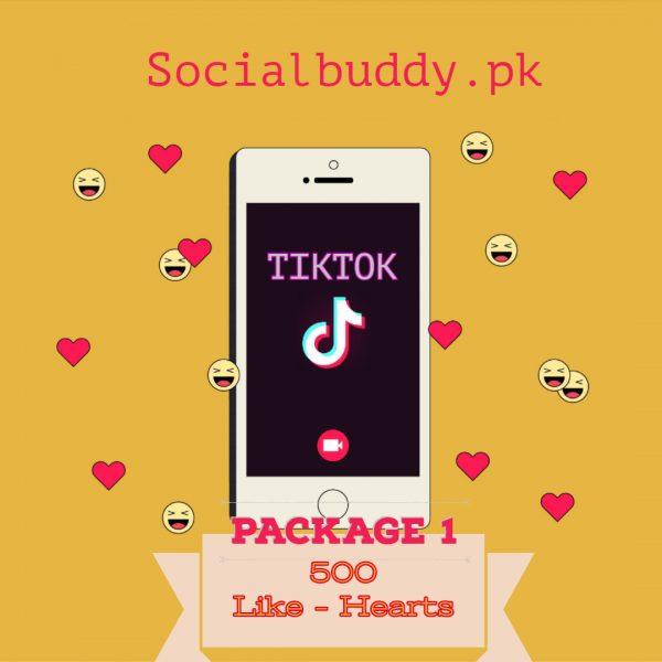 TikTok Likes -Hearts Buy in Pakistan